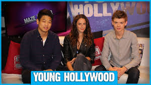THE MAZE RUNNER Cast on Pink Party Buses & Greenie Moments! - YouTube