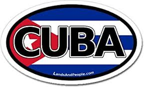 Amazon Com Cuba And Cuban Flag Car Bumper Sticker Decal Oval Arts Crafts Sewing
