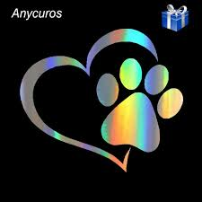 Anycuros Pet Cat Dog Paw Print Window Decal Lovely Car Styling Decoration Stickers Accessories 11 4 10 2cm Car Stickers Aliexpress