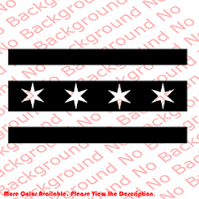 Chicago City Flag Illinois Usa Vinyl Decal Car Truck Window Off Road 4x4 Us037 Ebay