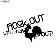 2017 New Style Hot Rock Out With Your Cock Out Sticker Decal Funny Vinyl Car Bumper Vinyl Decals Car Bumper Vinyl Carvinyl Decal Aliexpress