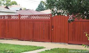 Wood Fence Red With Gate Picture Interunet