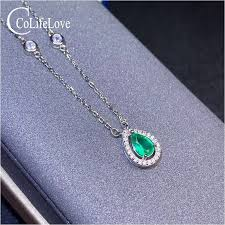 colife jewelry emerald necklace