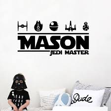 Star Wars Name Jedi Tie Fighter Vinyl Wall Home Decor Decal Quote Inspirational