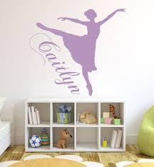Personalized Ballerina Wall Decal Vinyl Decoration For Girls Or Teenager S Bedroom Classic Dance Studio Decor Customvinyldecor Com