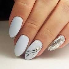 15 long oval shape nail designs