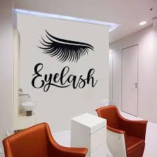 Eyelash Wall Decal Window Vinyl Sticker Custom Wall Decor Beauty Salon Quote Make Up Room Decoration Personalized Name 3065 Wall Stickers Aliexpress