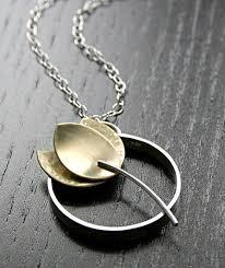 tulip flower pendant sterling silver