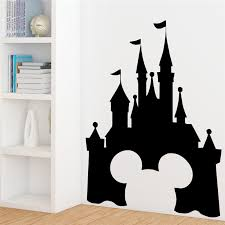 Disney Castle Wall Stickers For Kids Rooms Nursery Home Decor Accessories Cartoon Wall Decals Vinyl Mural Art Diy Wallpaper Wall Stickers Aliexpress