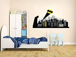 Amazon Com Gotham City Wall Decal Baby Boy Kids Decor Custom Bedroom Gift Vinyl Mural Art Baby