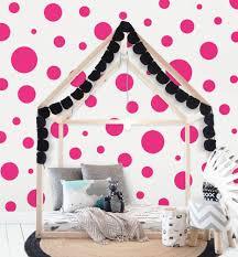 Amazon Com Polka Dot Wall Decals 63 Girls Room Wall Decor Stickers Wall Dots Vinyl Circle Peel Stick Diy Bedroom Playroom Kids Room Baby Nursery Toddler To Teen Bedroom Decoration 3 6 5 Hot