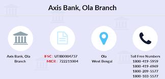 Axis Bank Ola IFSC Code UTIB0004737