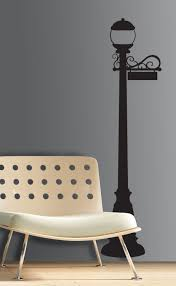 Lamp Post Peel Stick Giant Wall Decal Walldecals Com