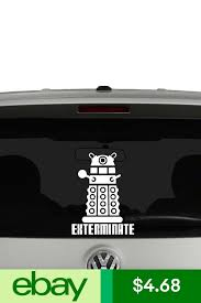 Doctor Who Dalek Exterminate Vinyl Decal Sticker Car Window Vinyl Decal Stickers Vinyl Decals Vinyl