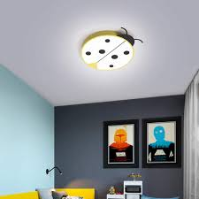 Lovely Children S Room Lamp Cartoon Beetle Child Girls Boys Kids Room Led Ceiling Light Cute Bedroom Ceiling Mounted Luminaire Yellow Small 40x50x6cm Amazon Com