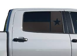 Amazon Com State Of Texas Flag Decals For Toyota Tundra Crew Max In Matte Black For Side Windows Tc21 A Handmade