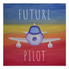 Plane Nursery Kids Room Posters Zazzle