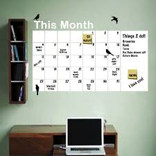 Dry Erase Monthly Calendar To Do List Wall Decal Dry Erase Wall Calendar Dry Erase Dry Erase Calendar