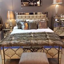monnaco mirror king size bed frame