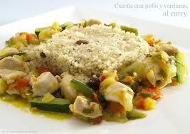 cuscús con pollo y verduras al curry