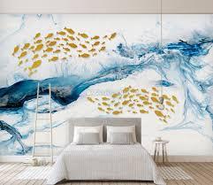 Sea Wave And Fish Wallpaper Mural Wallmur