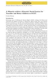 PDF) A Minority within a Minority? Social Justice for Traveller and Roma  Children in ECEC | Colette murray - Academia.edu
