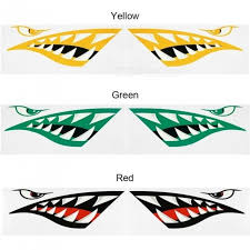 2pcs Shark Teeth Mouth Kayak Stickers Fish Mouth Decal Fishing Boat Canoe Car Truck Inflatable Boat Graphics Accessories Buy At The Price Of 5 99 In Dx Com Imall Com