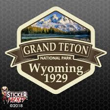 Grand Teton National Park Sticker Car Truck Window Vinyl Decal Usa Fs2161 Ebay