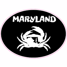 Maryland Crab State Oval Sticker