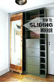 closet door roller sliding mirror door