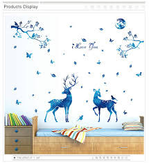 Moonlight Sika Deer Wall Stickers Pvc Material Diy Art Wall Decal For Kids Room Bedroom Home Decoration Murals Wall Decals Wall Stickerdeer Wall Sticker Aliexpress