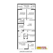 house plan for 24 feet by 60 feet plot