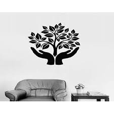 Wallstickers4ever Vinyl Decal Hands Tree Life Symbol Ecology Eco Wall Stickers Ig760