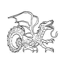 Leuk Voor Kids Kleurplaat Gevaarlijke Draak Dragon Coloring