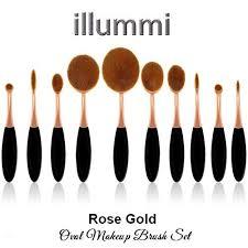 illummi rose gold makeup brush set