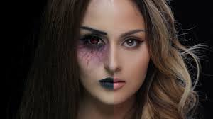 half face makeup ideas
