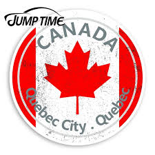 Jump Time For Quebec City Vinyl Stickers Canada Flag Sticker Laptop Luggage Window Decal Waterproof Car Accessories Car Stickers Aliexpress