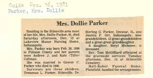 Dollie Myrtle Parker (Coffman) (1890 - 1981) - Genealogy