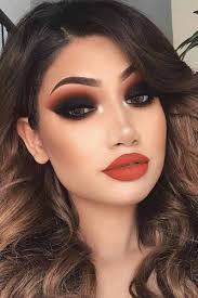 smokey eye makeup red dress saubhaya