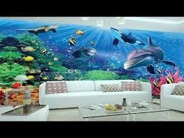 3d Wallpaper For Rooms 3d Wall Sticker 3d Ocean Wallpaper Dolphins Ceil 3d Wall Murals 3d Wallpaper For Room Mural Wallpaper