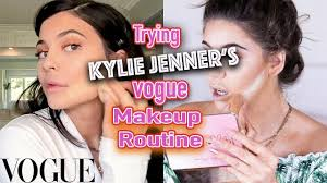 kylie jenner s vogue makeup routine