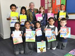 Top children's illustrator Adrian Reynolds meets art competition winners at  a Cambridge school - Cambridgeshire Live