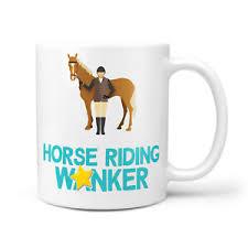 horse riding er mug gift for