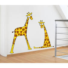 Adzif 47 In X 37 In Multi Color Giraffe Baby Boys Kids Wall Decal L5203 Ajv5 The Home Depot