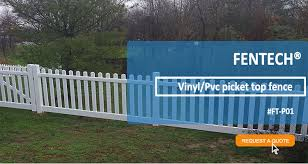 White Vinyl Pvc Plastic Palisade Picket Fence Good Modern Design For Balcony Railing View Vinyl Picket Fence Fentech Product Details From Linan Fentech Fence Products Co Ltd On Alibaba Com