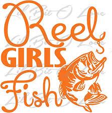 Amazon Com Reel Girls Fish Vinyl Decal With Bass Sticker Orange Home Kitchen