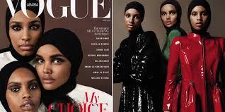 Vogue Arabia Makes History, Puts Three Black Hijabi Models on the Cover