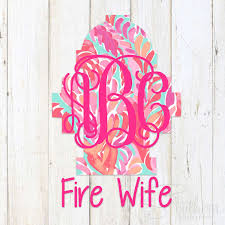 Lilly Hydrant Fire Wife Decal Sew Southern Designs