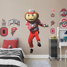 Fathead Ohio State Buckeyes Brutus Buckeye Mascot Life Size Officially Licensed Removable Wall Decal Walmart Com Walmart Com