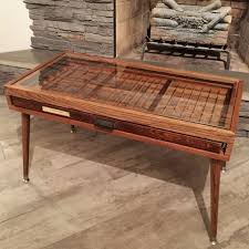 tray drawer coffee table with tapered